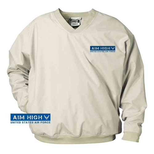 usaf aim high blue microfiber windbreaker