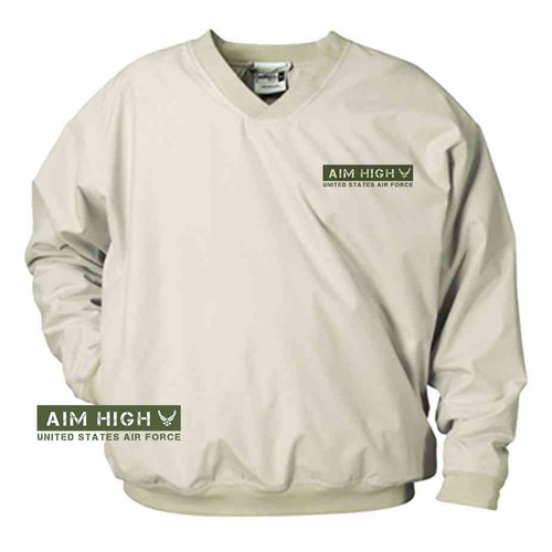 officially licensed u s air force aim high green microfiber windbreaker