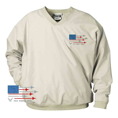 officially licensed u s air force fly fight win microfiber windbreaker