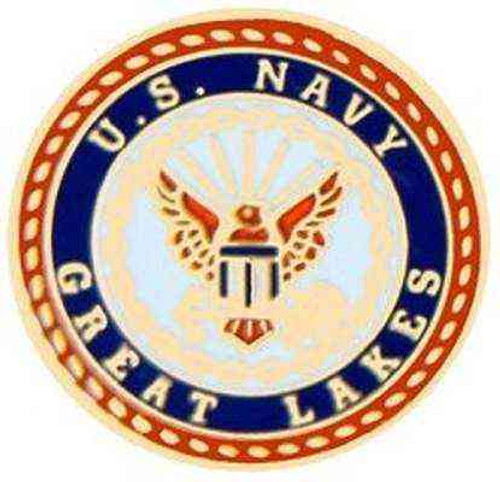 navy great lakes hat lapel pin