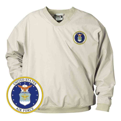 officially licensed u s air force emblem microfiber windbreaker