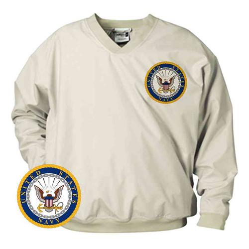 officially licensed us navy microfiber windbreaker