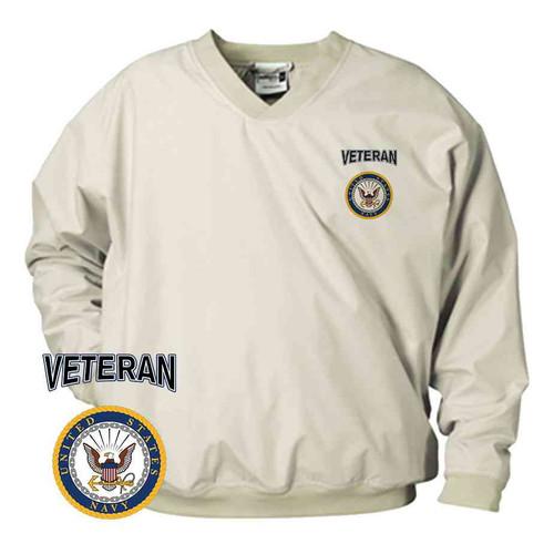 officially licensed us navy veteran microfiber windbreaker