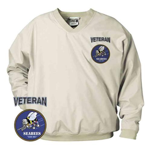 officially licensed u s navy seabees veteran microfiber windbreaker