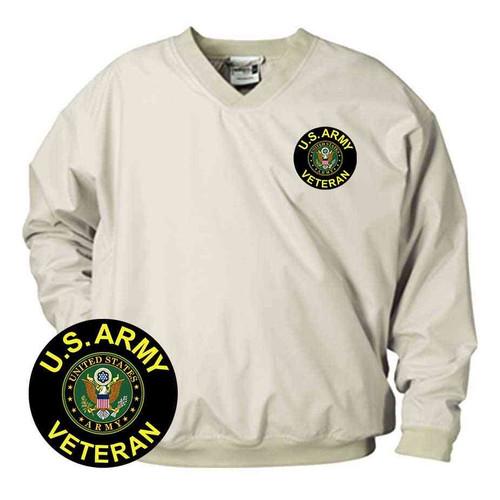 u s army veteran crest vinyl emblem microfiber windbreaker
