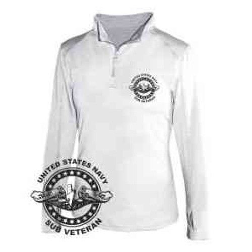 navy submarine badge veteran ladies 1 4 zip light weight pullover