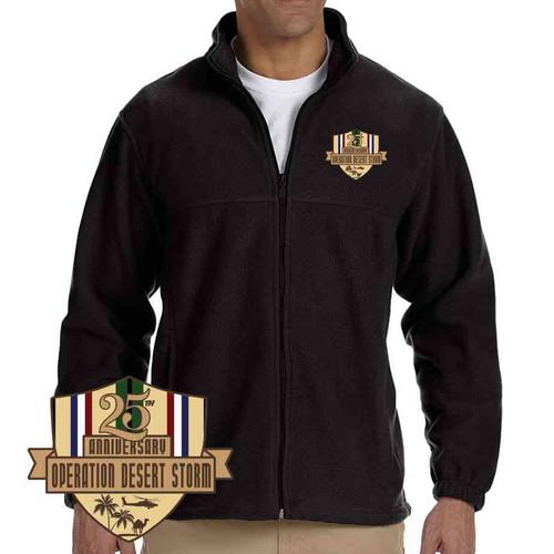 desert storm 25th anniversary fleece jacket