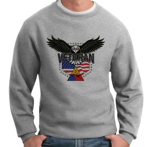 2nd armored division w eagle crewneck sweatshirt