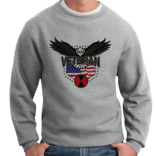 7th infantry division w eagle crewneck sweatshirt