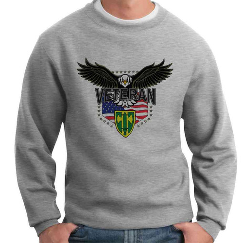 18th military police brigade w eagle crewneck sweatshirt