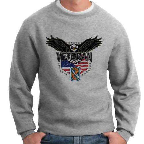 198th light infantry brigade w eagle crewneck sweatshirt