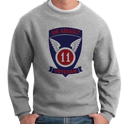 11th air assault veteran crewneck sweatshirt