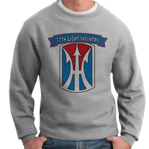 11th light infantry brigade crewneck sweatshirt