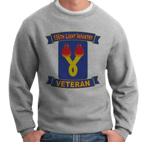 196th light infantry brigade veteran crewneck sweatshirt
