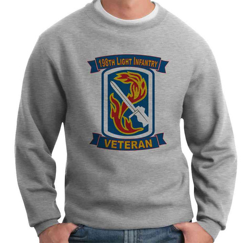 198th light infantry brigade veteran crewneck sweatshirt