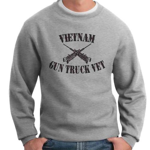 vietnam gun truck vet crewneck sweatshirt