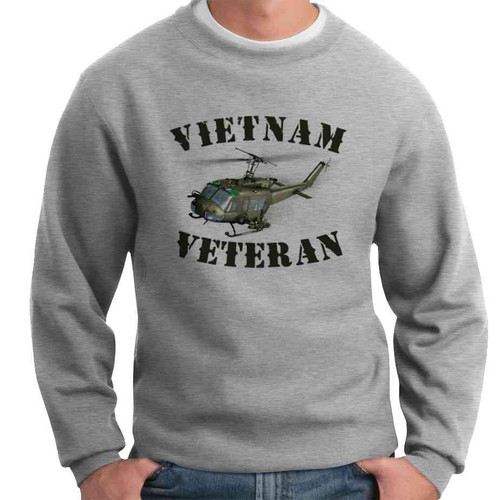 vietnam veteran huey crewneck sweatshirt