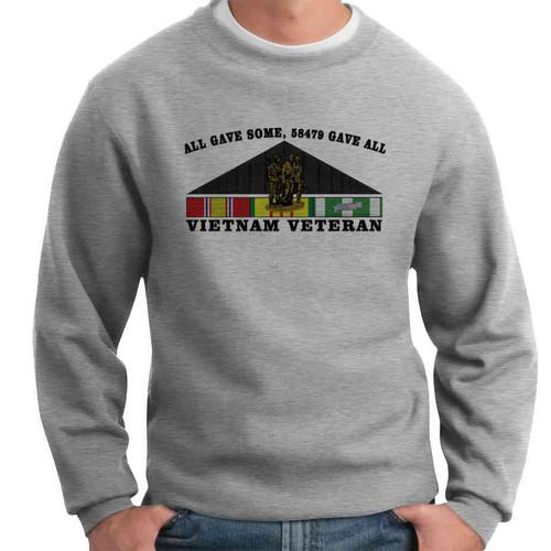 vietnam veteran all gave some 58479 gave all crewneck sweatshirt