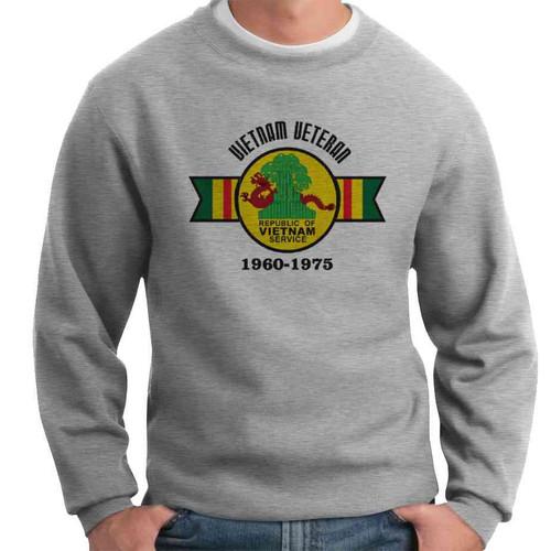 vietnam veteran service medal crewneck sweatshirt