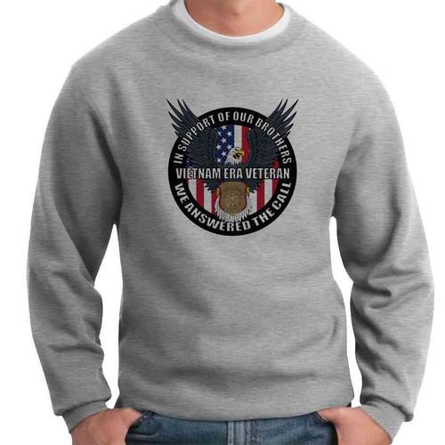 vietnam era veteran in support our brothers crewneck sweatshirt