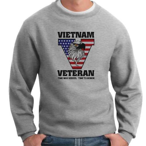 vietnam veteran time served crewneck sweatshirt