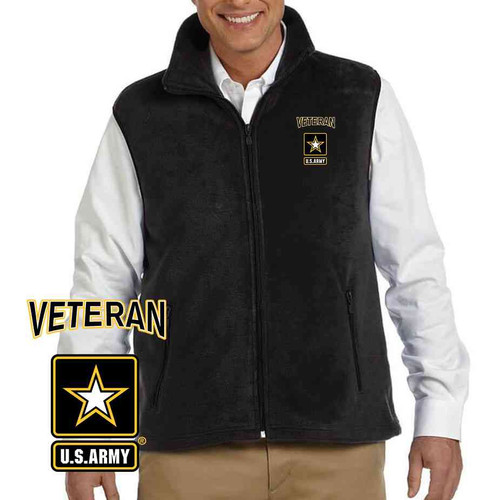 the officially licensed u s army veteran logo embroidered vest