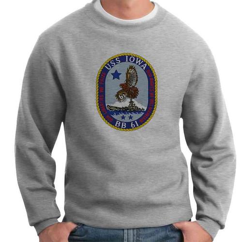 uss iowa crewneck sweatshirt
