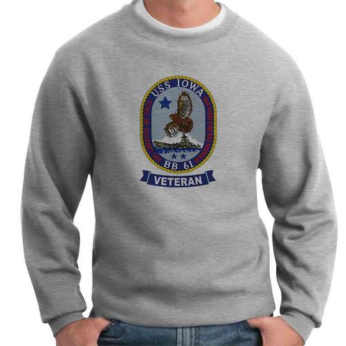 uss iowa veteran crewneck sweatshirt