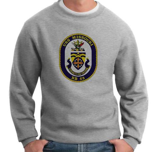 uss missouri crewneck sweatshirt