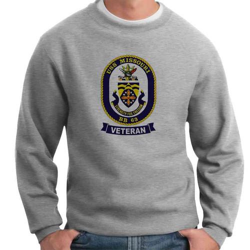 uss missouri veteran crewneck sweatshirt