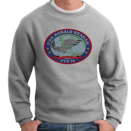 uss ronald reagan crewneck sweatshirt
