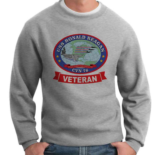 uss ronald reagan veteran crewneck sweatshirt