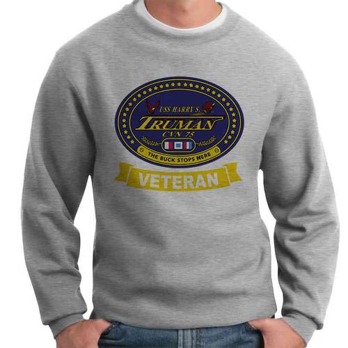 uss harry s truman veteran crewneck sweatshirt