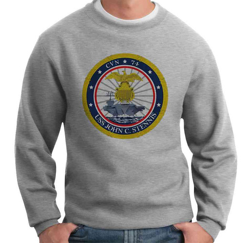 uss john c stennis crewneck sweatshirt
