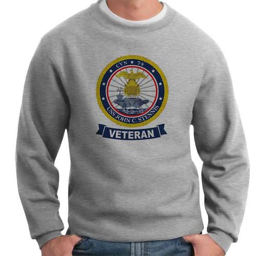 uss john c stennis veteran crewneck sweatshirt