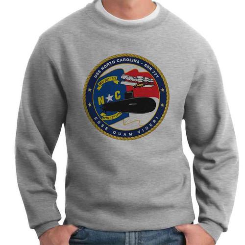 uss north carolina crewneck sweatshirt
