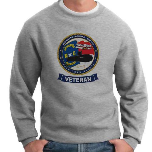 uss north carolina veteran crewneck sweatshirt