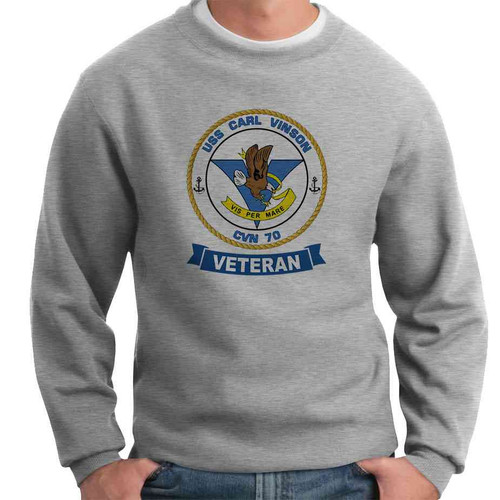 uss carl vinson veteran crewneck sweatshirt