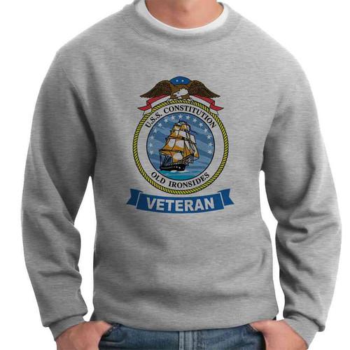 uss constitution veteran crewneck sweatshirt