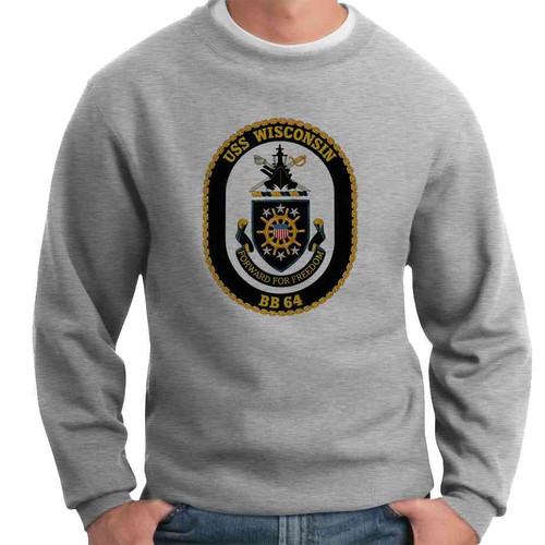 uss wisconsin crewneck sweatshirt