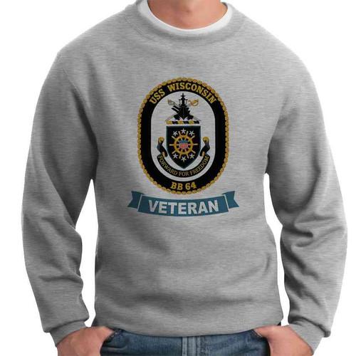 uss wisconsin veteran crewneck sweatshirt