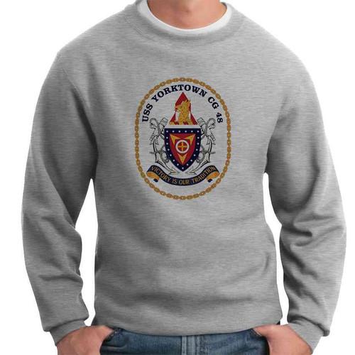 uss yorktown crewneck sweatshirt