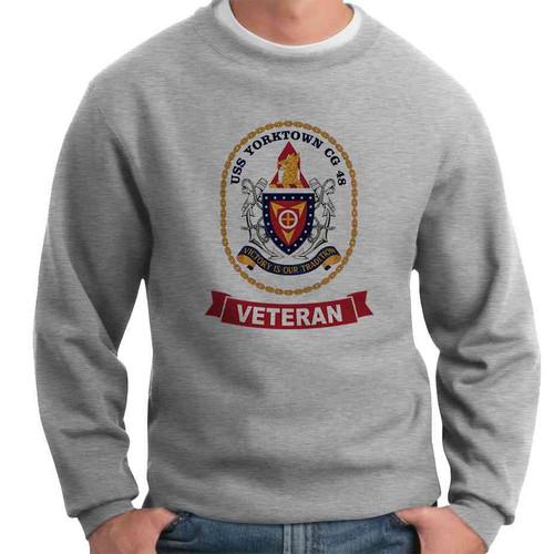 uss yorktown veteran crewneck sweatshirt