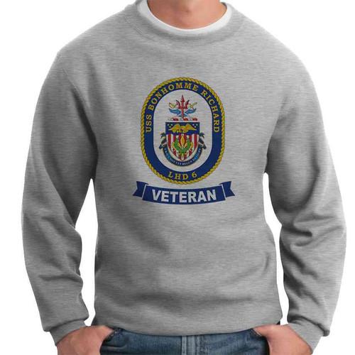 uss bonhomme richard veteran crewneck sweatshirt