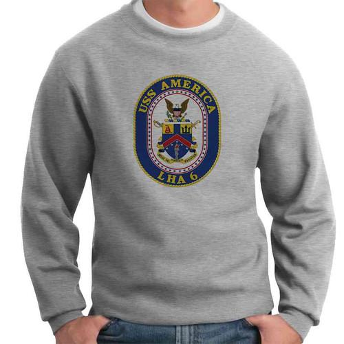 uss america crewneck sweatshirt
