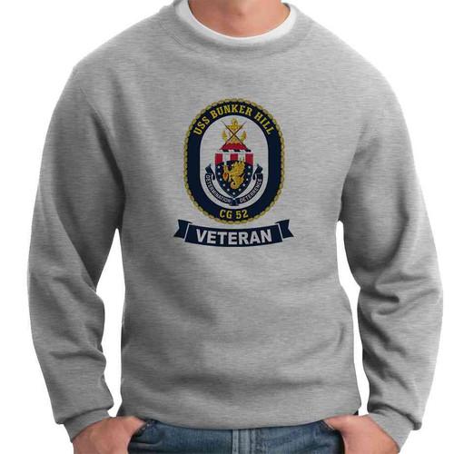 uss bunker hill veteran crewneck sweatshirt
