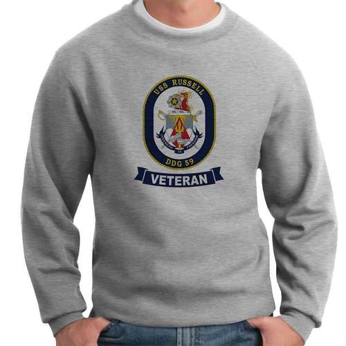 uss russell veteran crewneck sweatshirt