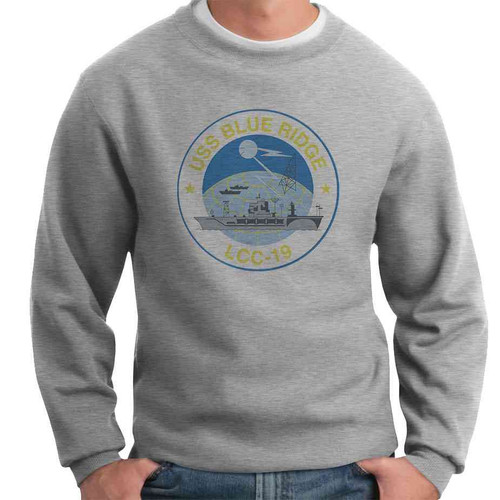 uss blue ridge crewneck sweatshirt