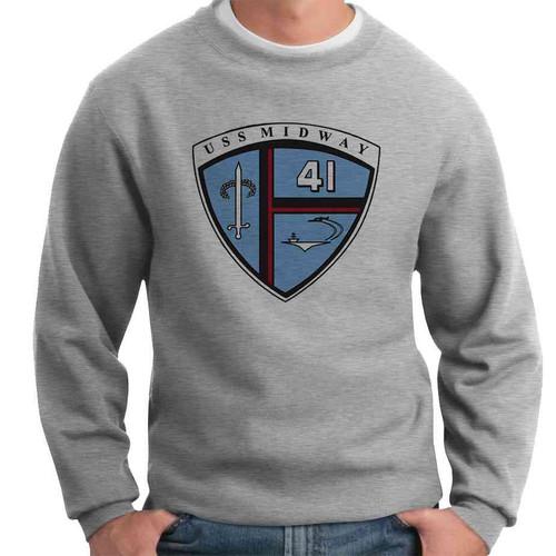 uss midway crewneck sweatshirt