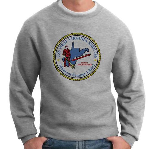 uss west virginia crewneck sweatshirt